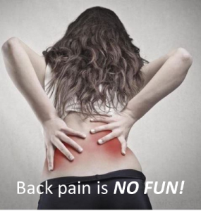 image of a woman with back pain